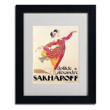'Clotilde and Alexandre' by George Barbier Framed Vintage Advertisement