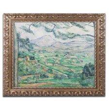 'Montagne Sainte-Victorie' by Paul Cezanne Framed Painting Print