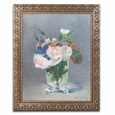 'Flowers in a Crystal Vase' by Edouard Manet Framed Painting Print