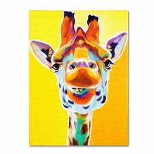 """Giraffe No. 3"" by DawgArt Painting Print on Wrapped Canvas"