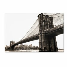 """""""Brooklyn Bridge 2"""" by CATeyes Photographic Print Gallery Wrapped on Canvas"""