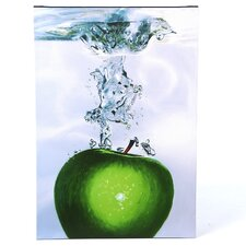 'Apple Splash II' by Roderick Stevens Painting Print on Canvas