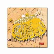 """""""Snap Purse Yellow"""" by Roderick Stevens Graphic Art on Wrapped Canvas"""