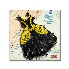 """""""Black and Yellow Swirls"""" by Roderick Stevens Graphic Art on Wrapped Canvas"""