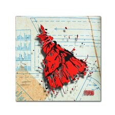 """Shoulder Dress Red and Black"" by Roderick Stevens Graphic Art on Wrapped Canvas"