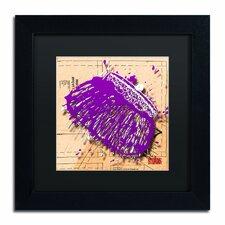 'Snap Purse Purple' by Roderick Stevens Framed Graphic Art
