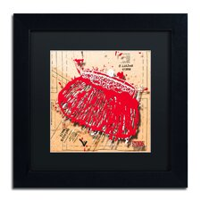 'Snap Purse Red' by Roderick Stevens Framed Graphic Art