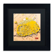 'Snap Purse Yellow' by Roderick Stevens Framed Graphic Art