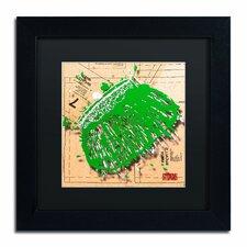 'Snap Purse Green' by Roderick Stevens Framed Graphic Art