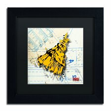 'Shoulder Dress Yellow and Black' by Roderick Stevens Framed Graphic Art