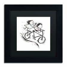 """Bike Kids"" by Carla Martell Framed Graphic Art"
