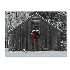 """""""Christmas Barn in the Snow"""" by Kurt Shaffer Photographic Print on Wrapped Canvas"""