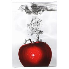 """Red Apple Splash"" by Roderick Stevens Photographic Print on Wrapped Canvas"