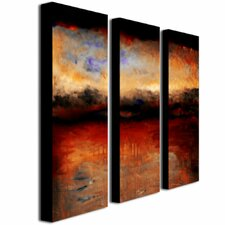 """""""Red Skies at Night"""" by Michelle Calkins 3 Piece Painting Print on Canvas Set"""