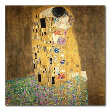 """The Kiss, 19078"" by Gustav Klimt Painting Print on Canvas"