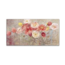 """Wild Poppies I"" by Li Bo Painting Print on Wrapped Canvas"