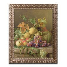 """""""A Fruit Still Life"""" by Jacob Bogdany Framed Painting Print"""