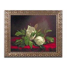 """Magnolia"" by Martin Heade Framed Painting Print"