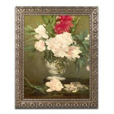"""Vase of Peonies 1864"" by Edouard Manet Framed Painting Print"