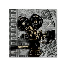 """""""Movie Camera"""" by Roderick Stevens Graphic Art on Wrapped Canvas"""