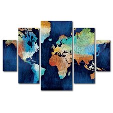 """""""Seasons Change"""" by Michael Mullan 5 Piece Painting Print on Wrapped Canvas Set"""