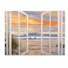 'Elongated Window' by Joval Framed Painting Print on Gallery Wrapped Canvas