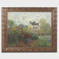'The Artist's Garden' by Claude Monet Framed Painting Print