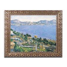 """The Little Bridge 1879"" by Paul Cezanne Framed Painting Print"