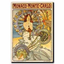 """Monaco-Monte Carlo"" by Alphonse Mucha Painting Print on Canvas"