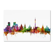 Moscow Russia Skyline by Michael Tompsett Graphic Art on Wrapped Canvas