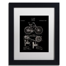 Bicycle Patent 1890 by Claire Doherty Framed Graphic Art in Black
