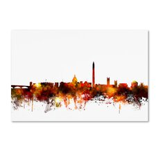"""Washington DC Skyline IV"" by Michael Tompsett Graphic Art on Wrapped Canvas"