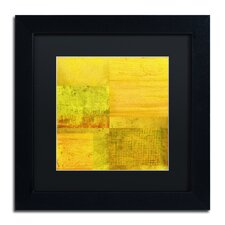 """""""Essence of Yellow"""" by Michelle Calkins Framed Painting Print"""