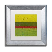"""""""Yellow Sky"""" by Michelle Calkins Framed Painting Print"""
