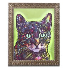 """""""Watchful Cat"""" by Dean Russo Ornate Framed Graphic Art"""