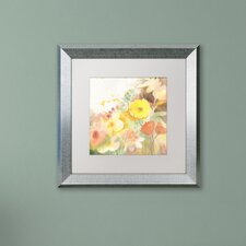 """""""Yellow Path"""" by Sheila Golden Matted Framed Painting Print"""