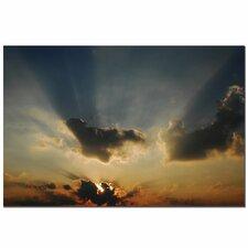 'Beautiful Sky II' by Kurt Shaffer Photographic Print on Wapped Canvas
