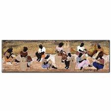 Basket Weavers by Garner Lewis Painting Print on Wrapped Canvas