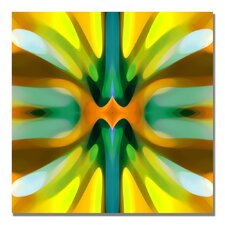 """""""Tree Light Symmetry Yellow"""" by Amy Vangsgard Graphic Art on Wrapped Canvas"""