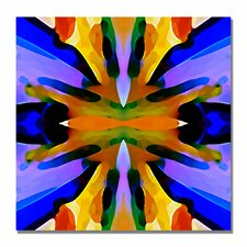 """""""Paradise Blue and Yellow"""" by Amy Vangsgard Graphic Art on Wrapped Canvas"""