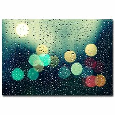 """Rainy City"" by Beata Czyzowska Young Photographic Print on Canvas"
