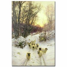 """""""The Sun had Closed a Winter's Day"""" by Joseph Farquharson Painting Print on Wrapped Canvas"""