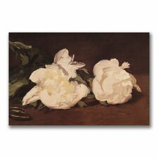 """Branch of White Peonies"" by Edouard Manet Painting Print on Wrapped Canvas"