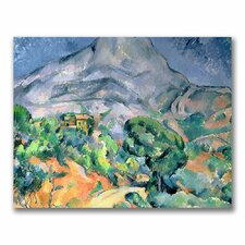"""""""Mont Sainte-Victoire"""" by Paul Cezanne Painting Print on Wrapped Canvas"""
