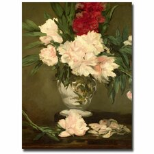 """Vase of Peonies, 1864"" by Edouard Manet Painting Print on Wrapped Canvas"