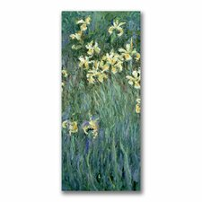 'The Yellow Irises' by Claude Monet Painting Print on Canvas