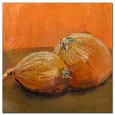 """""""Yellow Onions"""" by Michelle Calkins Painting Print on Canvas"""