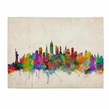 """New York Skyline"" by Michael Tompsett Painting Print on Canvas"