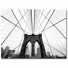 """NYC Brooklyn Bridge"" by Nina Papiorek Framed Photographic Print on Wrapped Canvas"