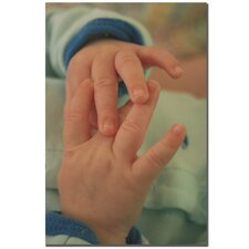 'Baby Boy Hands' by Patty Tuggle Framed Photographic Print on Wrapped Canvas